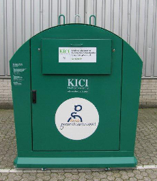 De KICI kledingcontainer